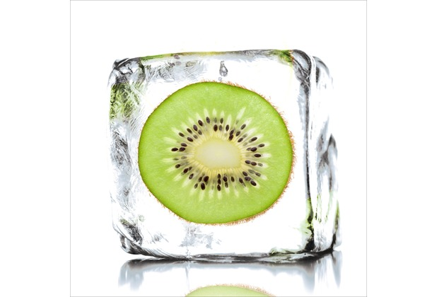 Glas-Art Floatglas Bild Kiwi sorbet 20 x 20 cm