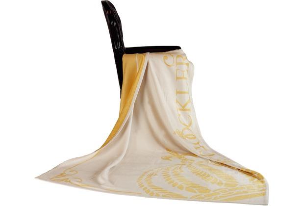 GLÖÖCKLER by KBT Wohndecke Queen, Jacquard weiß/gold 150x200cm