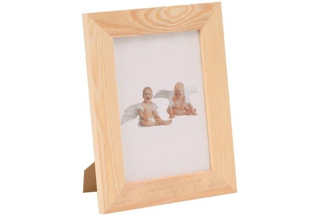 Glorex Bilderrahmen mit Glas passend für Fotos im Format 13x18cm aus Holz Kiefer unbehandelt