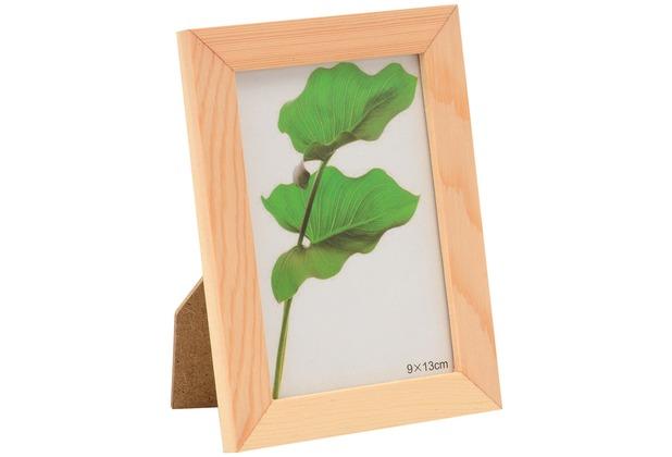 Glorex Bilderrahmen mit Glas passend für Fotos im Format 9x13cm aus Holz Kiefer unbehandelt