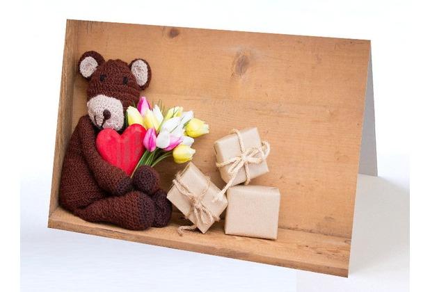 Sterngraf Glückwunschkarte Teddybär