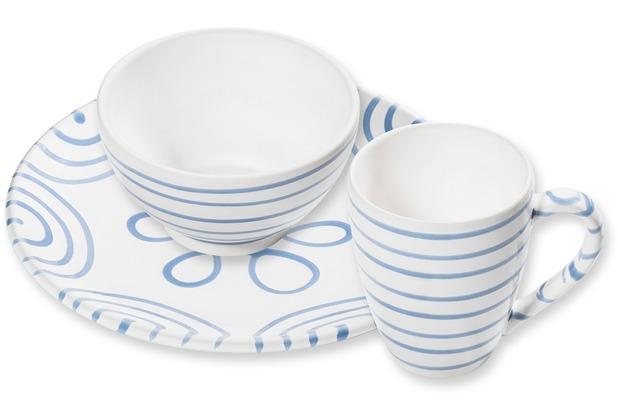 Gmundner Blaugeflammt, Hüttenfrühstück Cup 3tlg. für 1 Person, im Geschenkkarton