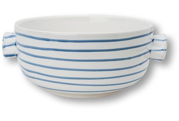 Gmundner Blaugeflammt,Unterteil Topf/Suppe glatt