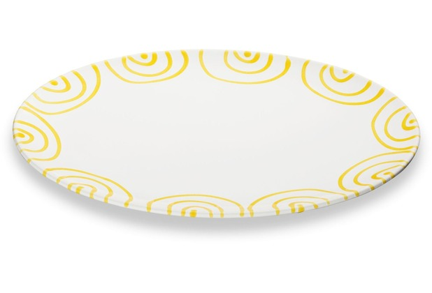 Gmundner Gelbgeflammt, Platte oval (28x21cm)