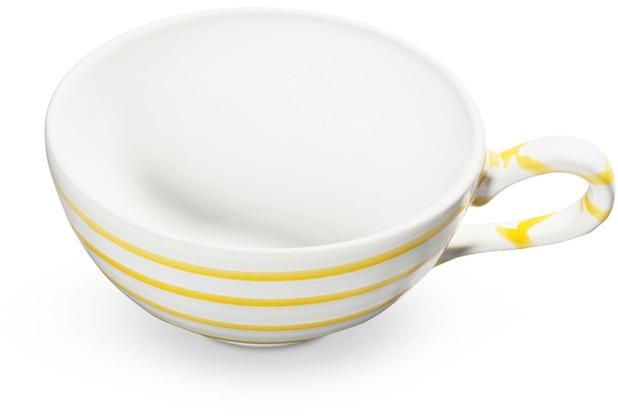 Gmundner Gelbgeflammt, Teetasse glatt (0,17L)