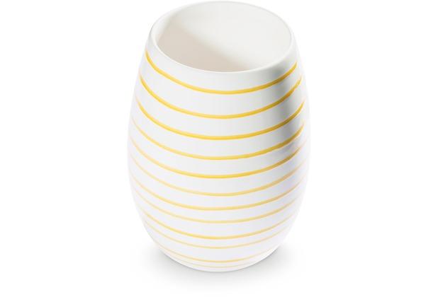 Gmundner Gelbgeflammt, Vase (H: 21cm)