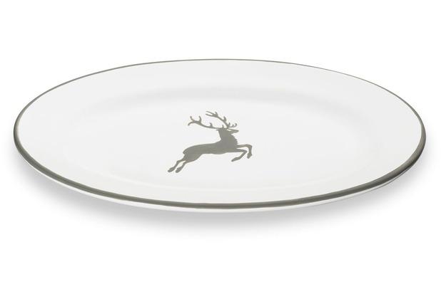 Gmundner Grauer Hirsch, Platte oval/Fahne Gourmet (21x14cm)