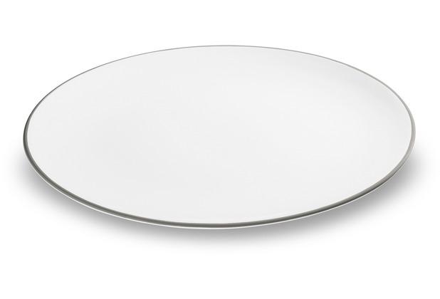 Gmundner Grauer Rand, Platte oval (33x26cm)