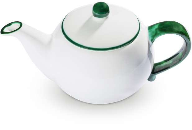 Gmundner Grüner Rand, Teekanne glatt 0,5L