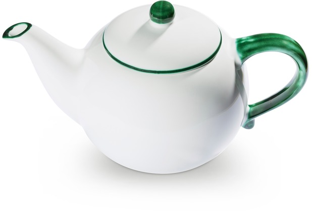 Gmundner Grüner Rand, Teekanne glatt 1,5L