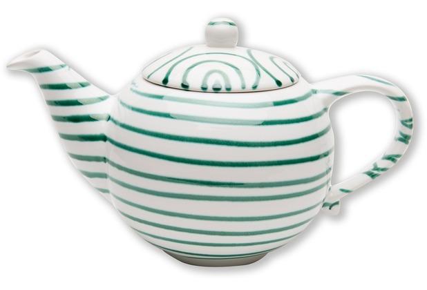 Gmundner Grüngeflammt, Teekanne glatt 1,5L