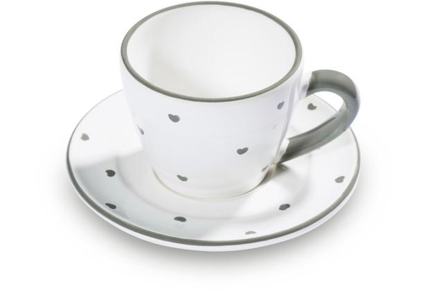 Gmundner Herzerl Grau, Espresso für Dich