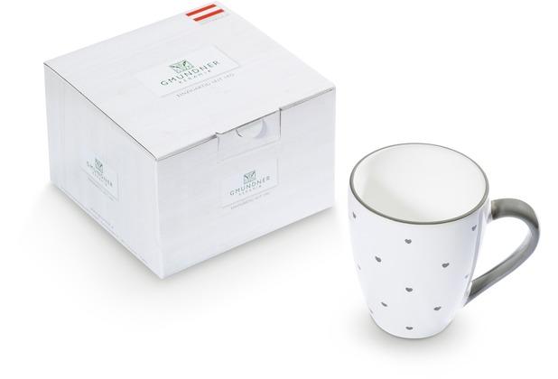 Gmundner Herzerl Grau, Frühstücksbecher Max(0,3 l)im Karton