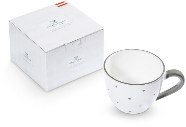 Gmundner Herzerl Grau, Teetasse Maxima (0,4L)im Karton