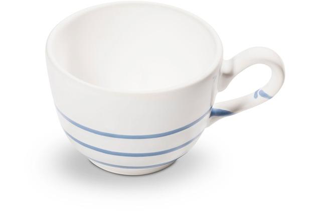 Gmundner Pur Geflammt Blau, Kaffeetasse glatt (0,19L)