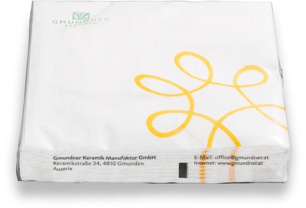 Gmundner Pur Geflammt Gelb, 20ST/Pk Lunchservietten, 3lg