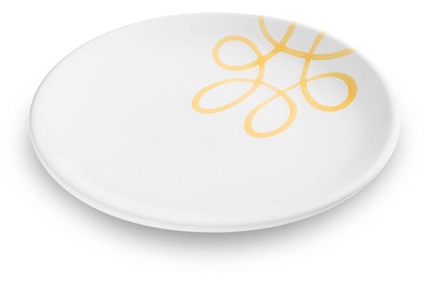 Gmundner Pur Geflammt Gelb, Dessertteller Cup (Ø 20cm)