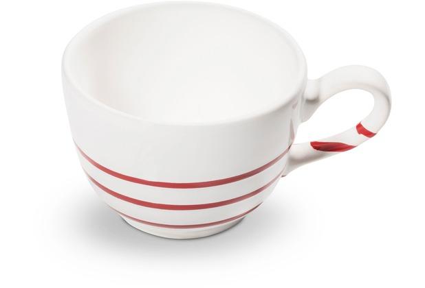 Gmundner Pur Geflammt Rot, Kaffeetasse glatt (0,19L)