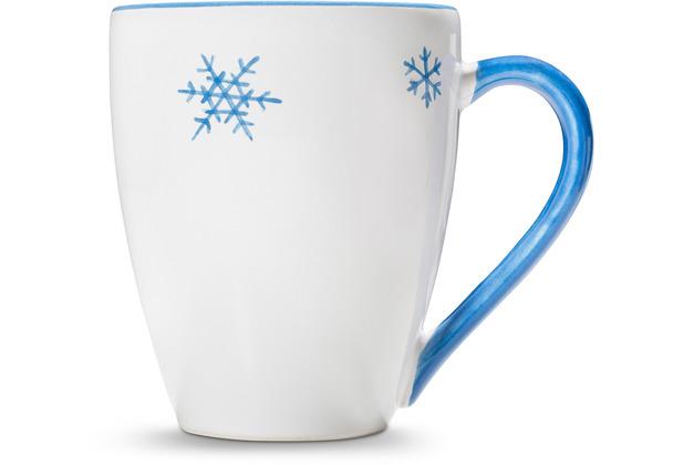 Gmundner Schneekristall Blau, Frühstücksbecher Max (0,3L)