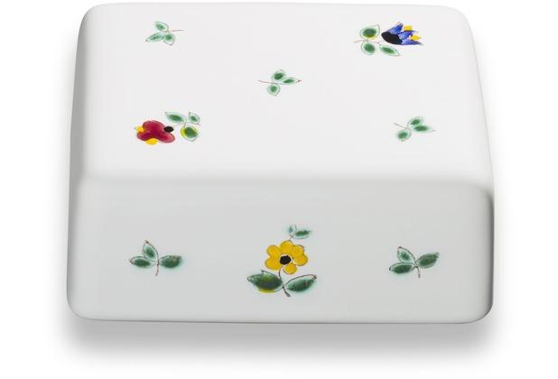 Gmundner Streublumen, Oberteil Butterdose glatt