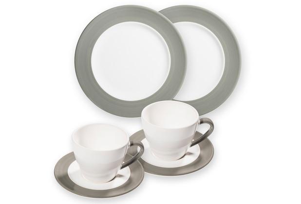 Gmundner Variation Grau, Frühstücksset für 2 Personen