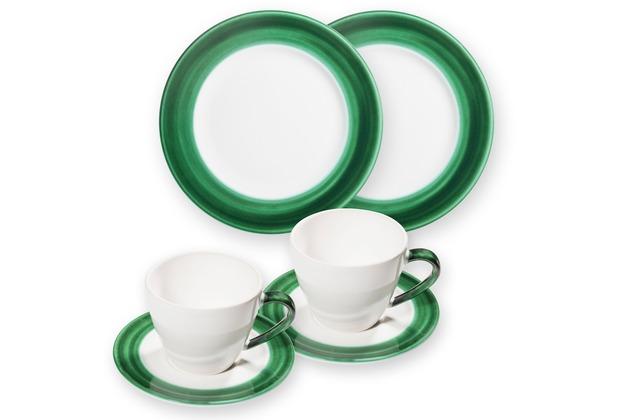 Gmundner Variation Grün, Frühstücksset für 2 Gourmet