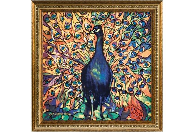 Goebel Artis Orbis Louis Comfort Tiffany Pfau - Wandbild limitiert 999 Stück