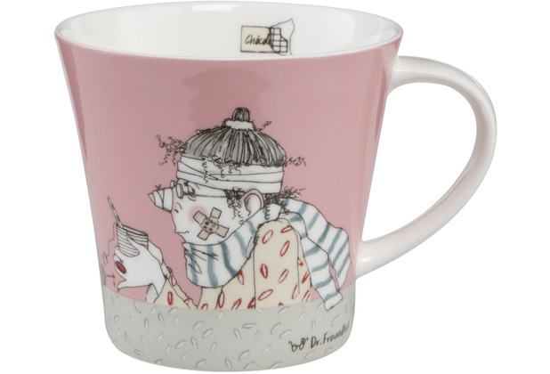 "Goebel Coffee-/Tea Mug Barbara Freundlieb - \""Get Better\"" 9,5 cm"