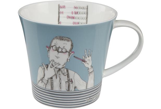 """Goebel Coffee-/Tea Mug Barbara Freundlieb - \""""Wer schlau ist\"""" 9,5 cm"""