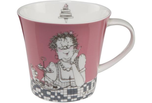 "Goebel Coffee-/Tea Mug Barbara Freundlieb - \""Zwei Diäten\"" 9,5 cm"