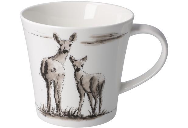 """Goebel Coffee-/Tea Mug Peter Schnellhardt - \""""Gemeinsam unterwegs\"""" 9,5 cm"""