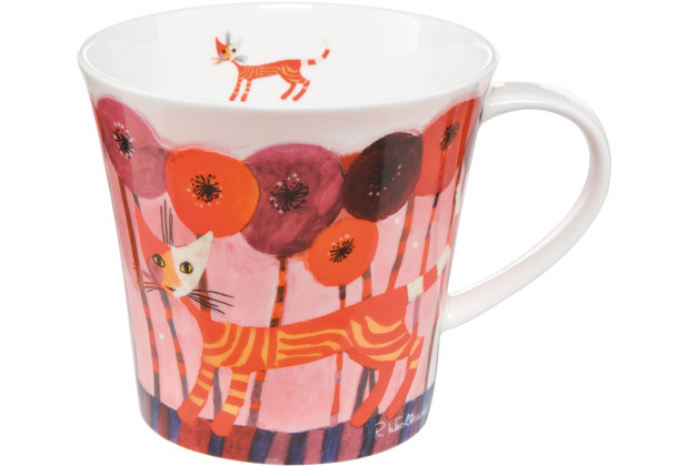 "Goebel Coffee-/Tea Mug Rosina Wachtmeister - \""Fiori rossi\"" 9,5 cm"