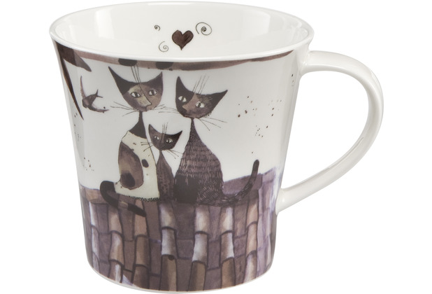 "Goebel Coffee-/Tea Mug Rosina Wachtmeister - \""Virgola e sua famiglia\"" 9,5 cm"