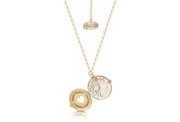 """Couture Kingdom Halskette Disney Alice im Wunderland \""""Taschenuhr\"""" 70,0 cm"""