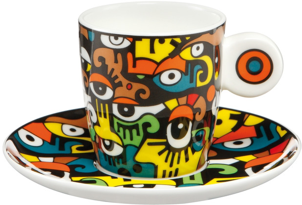 """Goebel Espressotasse Billy the Artist - \""""Looking into the Future\"""" 7,0 cm"""