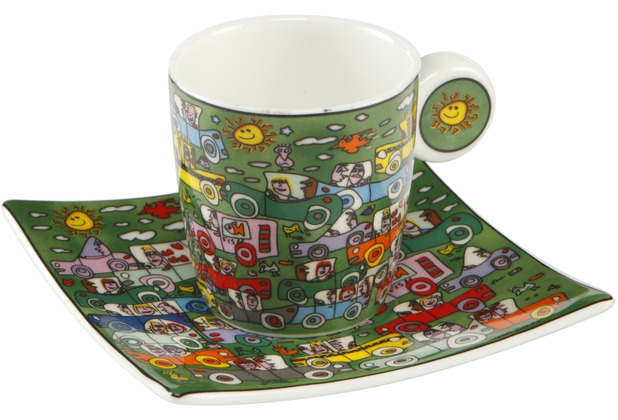 "Goebel Espressotasse James Rizzi - ""Crosstown Traffic\"" 6,5 cm"