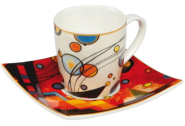 "Goebel Espressotasse Wassily Kandinsky - \""Schweres Rot\"" 6,5 cm"