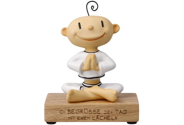 """Goebel Figur Der kleine Yogi - \""""Ich begrüße den Tag\"""" 13,0 cm"""