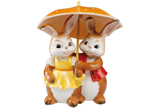 """Goebel Figur Hasenpaar - \""""Gemeinsam glücklich\"""" 15,0 cm"""