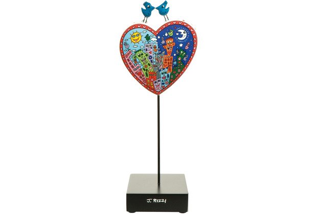 "Goebel Figur James Rizzi - \""Love in the Heart of City\"" 27,5 cm"