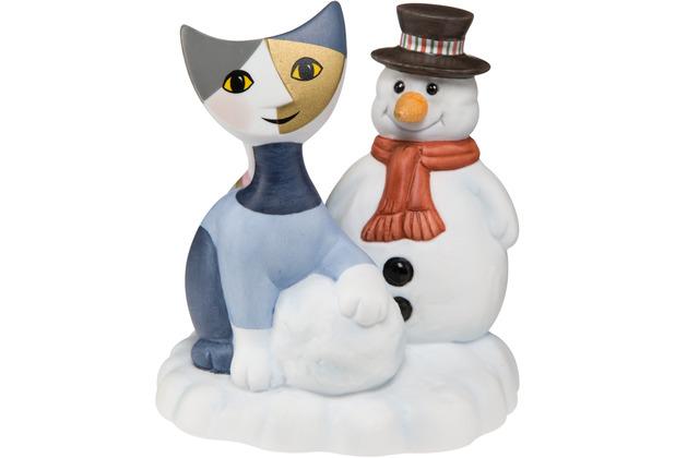 "Goebel Figur R. Wachtmeister - Katze \""Bella pupazzo di neve\"" 9,0 cm"