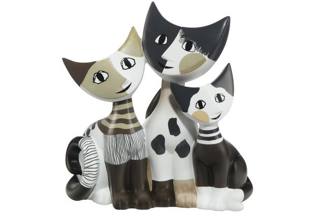 """Goebel Figur R. Wachtmeister - Katzen \""""Tibaldo e sua famiglia\"""" 15,5 cm"""