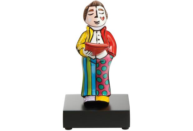 "Goebel Figur Romero Britto - \""Sänger\"" 17,5 cm"
