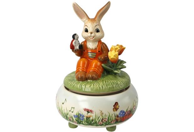 "Goebel Figur Spieluhr - \""Picknick im Frühling\"" 17,0 cm"