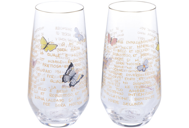 "Goebel Glas Rosina Wachtmeister - Set 2tlg. \""Giorni di sole\"" 15,0 cm"