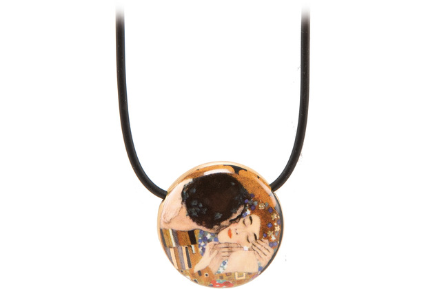 "Goebel Halskette Gustav Klimt - \""Der Kuss\"" 54,0 cm"