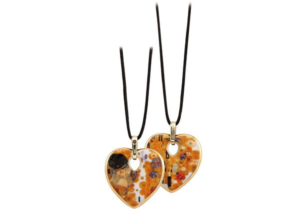 "Goebel Halskette Gustav Klimt - \""Der Kuss\"" 58,0 cm"