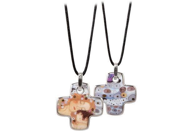 "Goebel Halskette Gustav Klimt - \""Die drei Lebensalter\"" 58 cm"