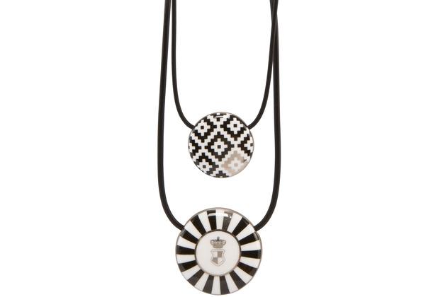 "Goebel Halskette Maja von Hohenzollern - Design \""Diamonds/Stripes\"" 54,0 cm"