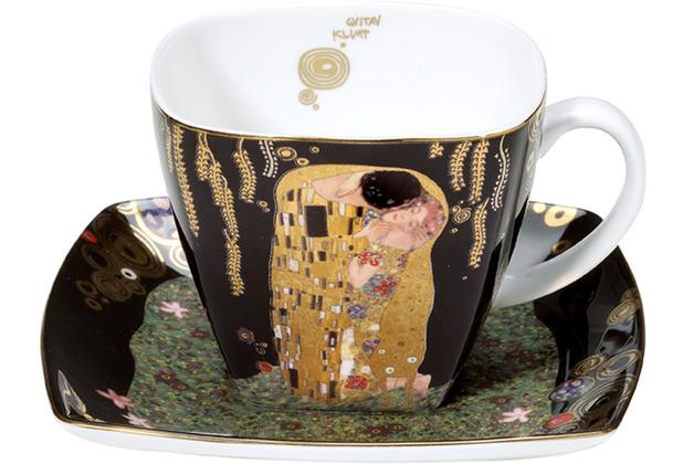"Goebel Kaffeetasse Gustav Klimt - \""Der Kuss\"" 10,0 cm"
